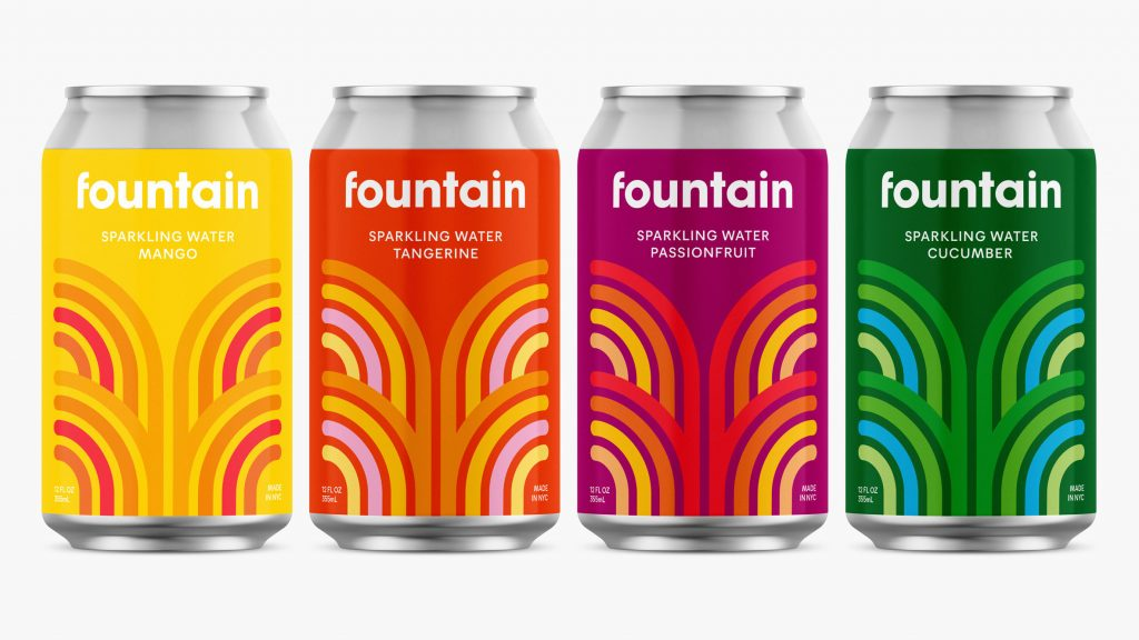 "Pentagram designs branding for CBD sparkling drink Fountain to ""stand out"""