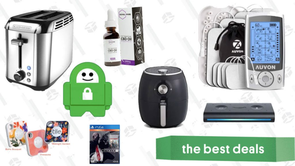 Wednesday's Best Deals: CBD Exclusive Sale, Hitman Gold 2, Dash Air Fryer, Aukey Power Bank, Black + Decker Toaster, and More
